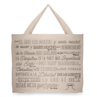 Bolsa Ecologica Terramarte/ Diseño Letras / En Algodón
